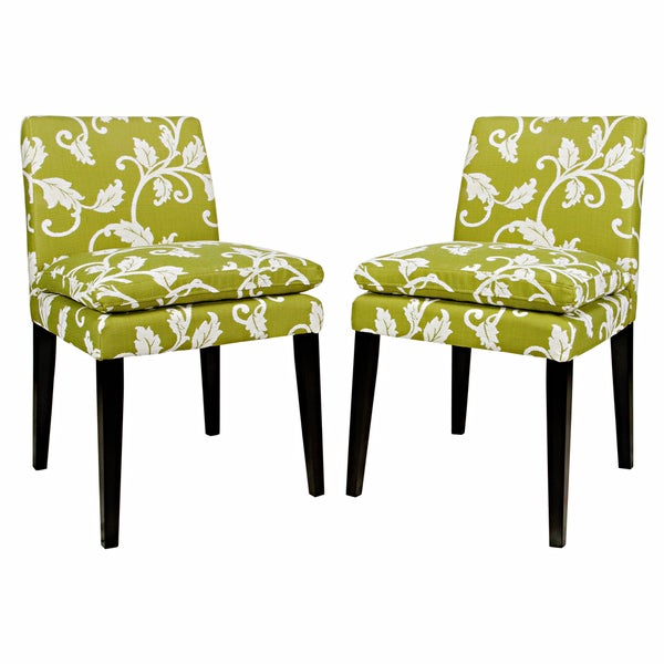 Better Living Orion Leaf Green Upholstered Dining Chairs (Set of 2)