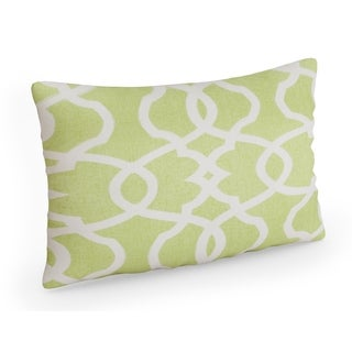 Pillow Perfect Lattice Damask Leaf Rectangular Throw Pillow