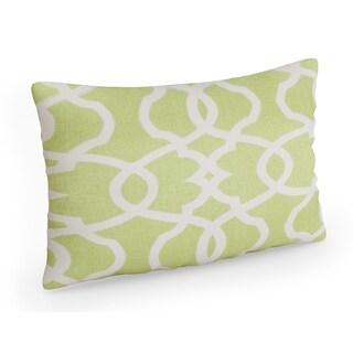 Pillow Perfect Lattice Damask Leaf Rectangular Throw Pillow
