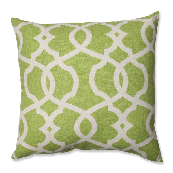 Pillow Perfect Lattice Damask Leaf 16.5-inch Throw Pillow