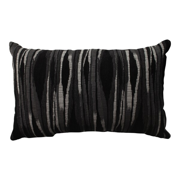 Pillow Perfect Kasuri Charcoal Rectangular Throw Pillow