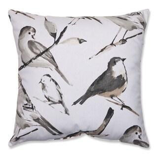 Pillow Perfect Bird Watcher Charcoal 18-inch Throw Pillow