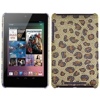 INSTEN Leopard Skin/ Camel Diamante Phone Case Cover for Google Nexus 7