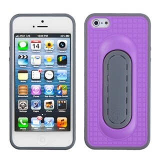 INSTEN Purple Snap Tail Stand Phone Case for Apple iPhone 5/ 5S/ SE