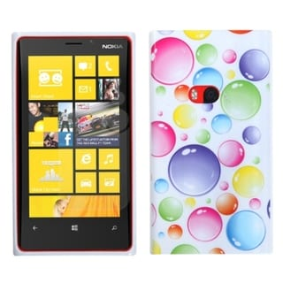 INSTEN Rainbow Bigger Bubbles Candy Skin Phone Case Cover for Nokia 920 Lumia