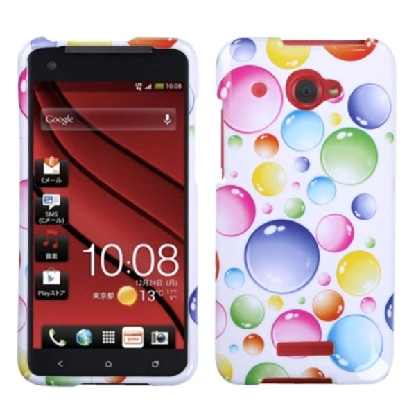 INSTEN Rainbow Bigger Bubbles Phone Case Cover for HTC Droid DNA