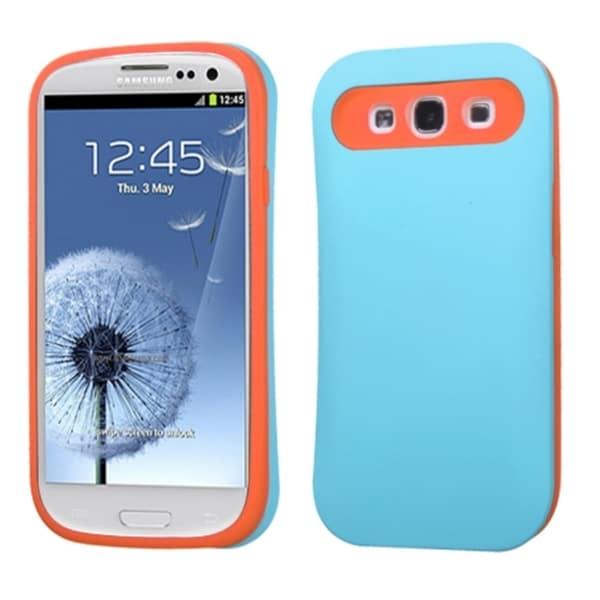 BasAcc Baby Blue/ Orange Card Wallet Case for Samsung Galaxy S III/ S3