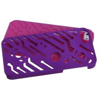 INSTEN Grape/ Hot Pink Circuit board Hybrid Phone Case for Apple iPhone 5/ 5S/ SE