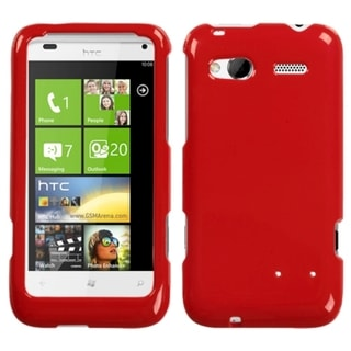 INSTEN Solid Flaming Red Phone Case Cover for HTC Radar 4G