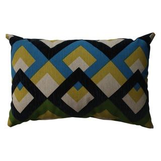 Pillow Perfect Overlap Geo Navy Rectangular Throw Pillow