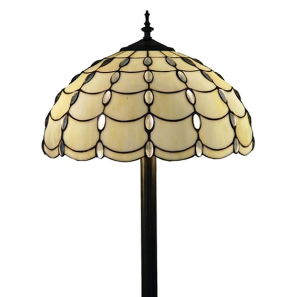 amora lighting tiffany style cascades floor lamp free shipping today. Black Bedroom Furniture Sets. Home Design Ideas