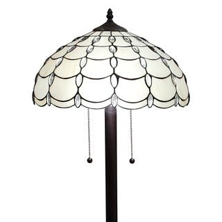 Amora Lighting Tiffany Style Cascades Floor Lamp