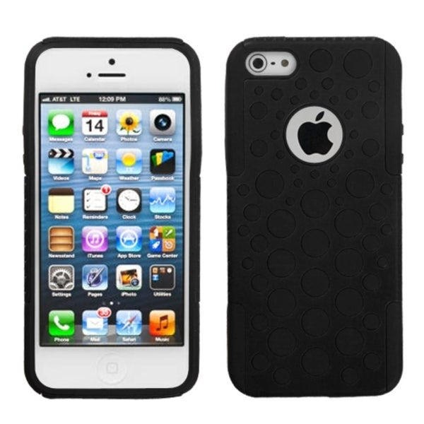 INSTEN Black Dots Advanced Armor Phone Case Cover for Apple iPhone 5