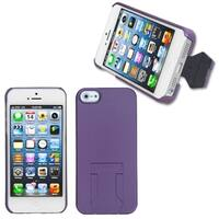 INSTEN Purple Back Protector Phone Case With Stand for Apple iPhone 5/ 5S/ 5C/ SE