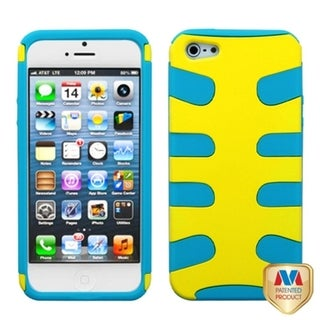 INSTEN Yellow/ Tropical Teal Fishbone Phone Case for Apple iPhone 5/ 5S/ SE