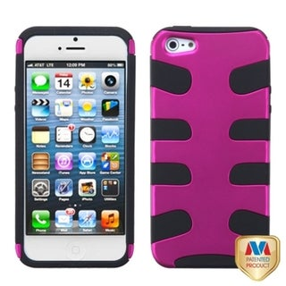 INSTEN Hot Pink/ Black Fishbone Phone Case for Apple iPhone 5/ 5S/ SE