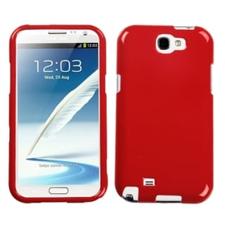 INSTEN Solid Flaming Red Phone Case Cover for Samsung Galaxy Note II