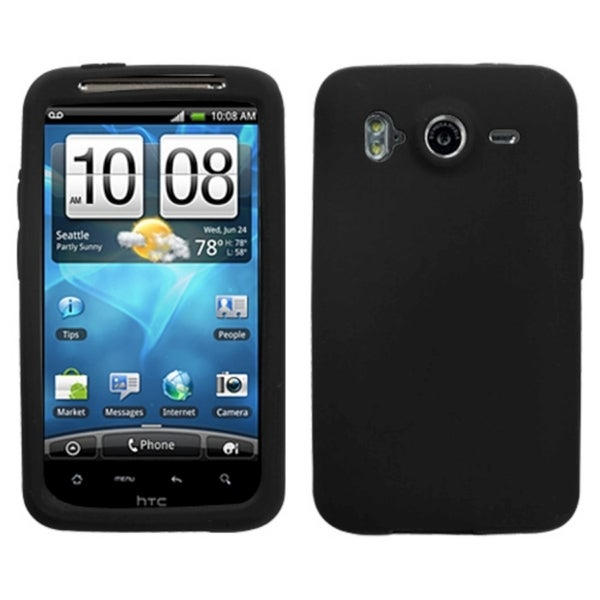 INSTEN Solid Black Phone Case Cover for HTC Inspire 4G