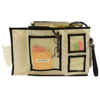 Bedside Organizer Hanging Storage Caddy Bag with 7 Deep Pockets and 4 Mesh Compartments