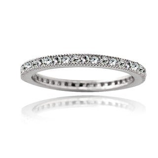 Icz Stonez Cubic Zirconia Sterling Silver Eternity Band Stackable Ring|https://ak1.ostkcdn.com/images/products/8105344/P15454806.jpg?_ostk_perf_=percv&impolicy=medium