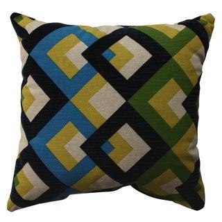Pillow Perfect Overlap Geo Navy 16.5-inch Throw Pillow