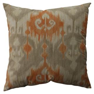 Pillow Perfect Marlena Ikat Orange 23-inch Decorative Pillow