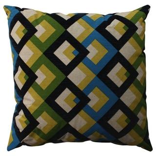 Pillow Perfect Overlap Geo Navy 23-inch Decorative Pillow