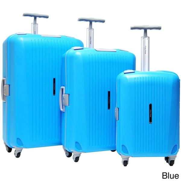 CalPak Verona 3-piece Polypropylene Spinner Luggag