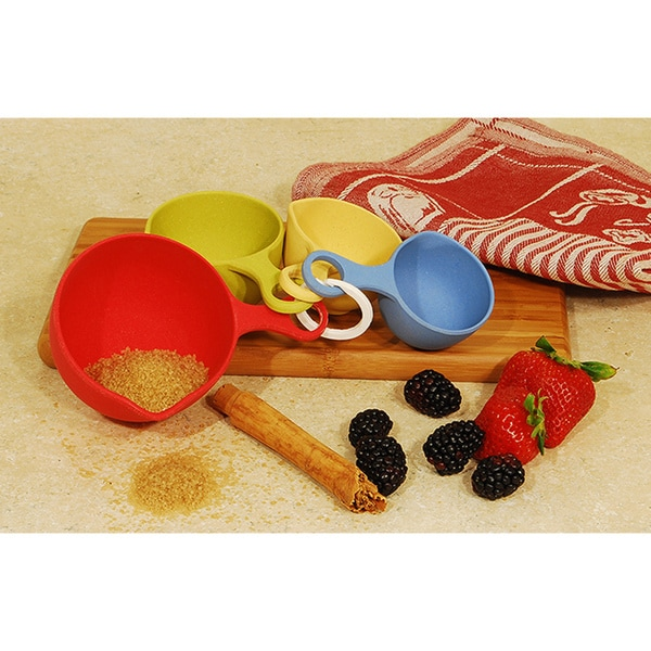 Bamboo Fiber Measuring Spoons and Cups Set