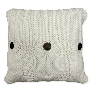 Link to 'Michaela' White Knitted Throw Pillow Similar Items in Decorative Accessories