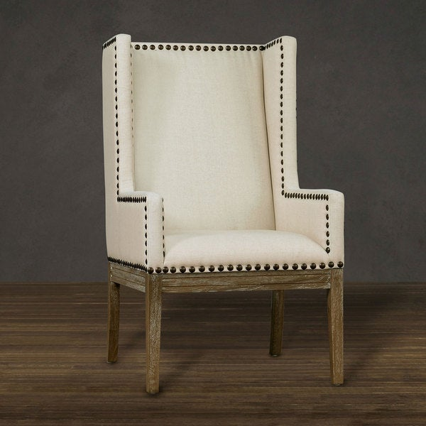 Shop Tribeca Beige Linen Chair Free Shipping Today