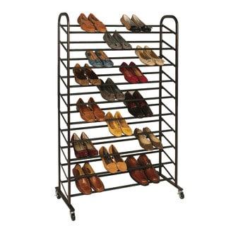 Shop Richards Homewares Bronze Rolling 50 Pair Shoe Rack