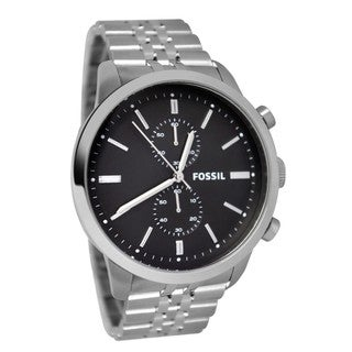 Fossil Men's 'Townsman' Black Dial Chronograph Watch