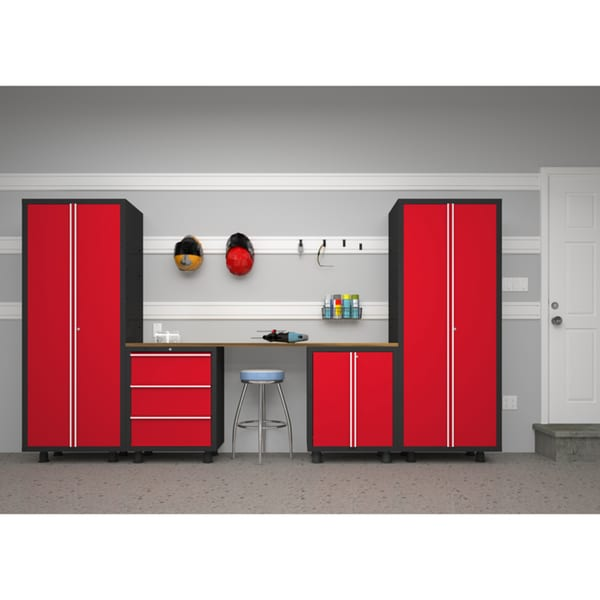 Newage Products Bold Series 5 Piece Cabinetry Set In Red