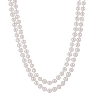 Pearls For You Pink Freshwater Pearl 2-strand Necklace (5.5-6 mm)