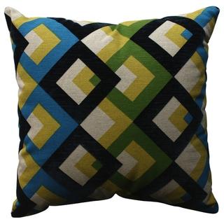 Pillow Perfect Overlap Geo Navy 18-inch Throw Pillow