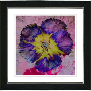 Studio Works Modern 'Floral Flair - Blue' Framed Art Print