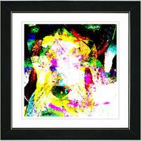 Studio Works Modern 'Sandstorm - Yellow' Framed Art Print