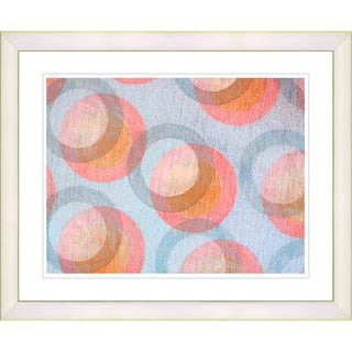 Zhee Singer 'Circle Series - Pastel Peach' White Framed Art Print