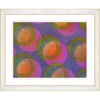 Zhee Singer 'Circle Series - Fruit Punch' White Framed Art Print