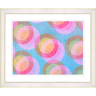 Zhee Singer 'Circle Series - Pastel Pink' White Framed Art Print