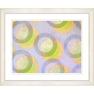 Zhee Singer 'Circle Series - Pastel Citrus' White Framed Art Print