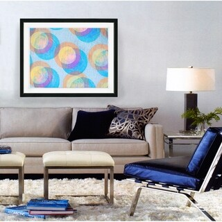 Studio Works Modern 'Circle Series' Framed Fine Art Giclee Print