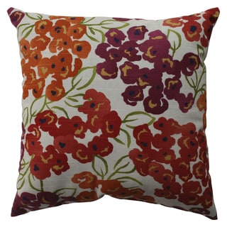 Pillow Perfect Luxury Floral Poppy 16.5-inch Throw Pillow