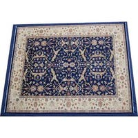 Herat Oriental Indo Hand-knotted Vegetable Dye Wool Rug (12' x 14'11) - 12' x 14'11
