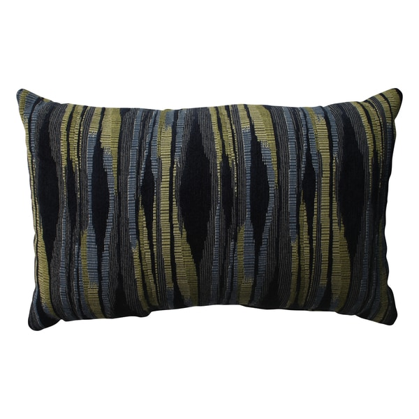 Pillow Perfect Kasuri Navy Rectangular Throw Pillow