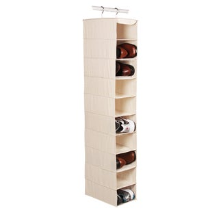 Richards Homewares Canvas 10-Compartment Hanging Men's Shoe Organizer