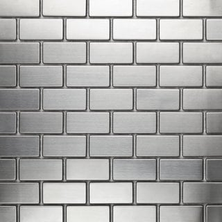 Martini Mosaic 'Essen' Stainless Steel 12x12-inch Tile Sheets (Set of 10 sheets)