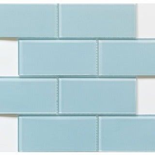 Martini Mosaic Blocco Riviera Water Glass 11.75 x 14.75-inch Tile Sheets (Set of 10)