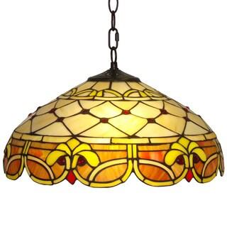 Amora Lighting Tiffany Style Classic 2-light Pendant Lamp